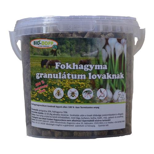 Fokhagyma Granulátum Lovaknak 5L