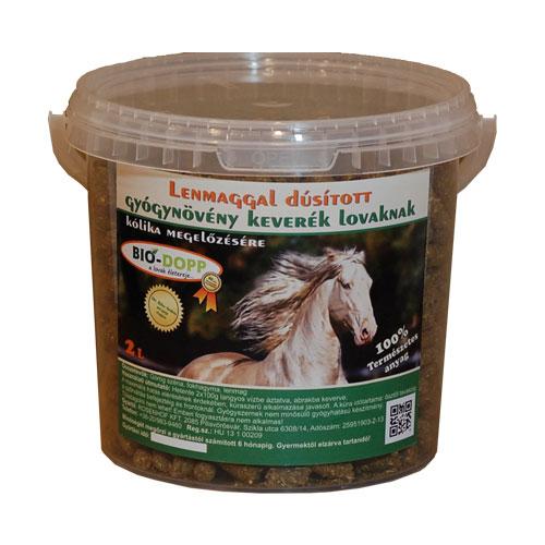 Lenmaggal dúsított gyógynövény keverék lovak számára 2L
