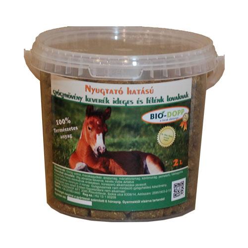 Nyugtató hatású gyógynövény keverék ideges és félénk lovaknak 2L