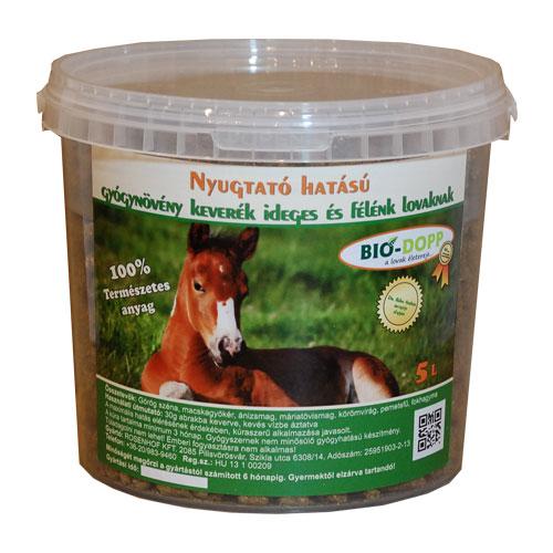Nyugtató hatású gyógynövény keverék ideges és félénk lovaknak  5L